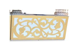 Image of a Bar Facade-Gold-White Swirl