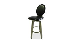 Image of a Barstool-Leather-Black