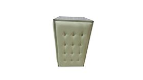 Image of a Bar Facade-Tufted White Leather