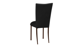 Image of a Black Velvet Chair with Mahogany Legs