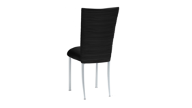 Image of a Black Spandex Chair on Silver Legs