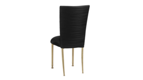 Image of a Black Spandex Chair on Gold Legs