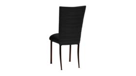 Image of a Black Spandex Chair on Mahogany Legs