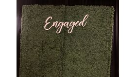 "Image of a ""Engaged"" Wooden Sign"
