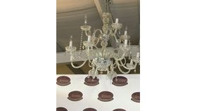 Image of a 2 Tier Crystal Chandelier