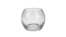 Image of a Clear Globe Crackled Glass Votive