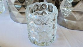 Image of a Clear Starburst Glass Votive