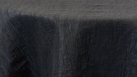 "Image of a 120"" Round Black Crinkle Tablecloths"