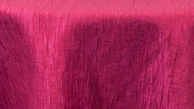 "Image of a 120"" Round Fuchsia Crinkle Tablecloths"
