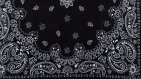 "Image of a Black Bandana Napkins 20"" x 20"""
