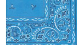 "Image of a Bright Blue Bandana Napkins 20"" x 20"""