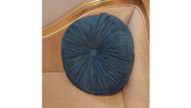 Image of a Blue Circle Pillows