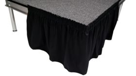 """Image of a Black Stage Skirts , 48"""" x 8'"""