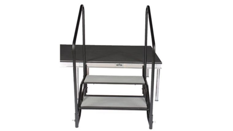 """Picture of a Quik Stage 2-Step Stairs with Handrails (24"""" stage)"""