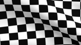 Image of a Black & White Check Spandex Chair Bands
