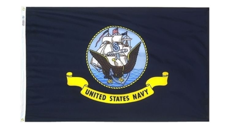 Picture of a 3' x 5' United States Navy Flags