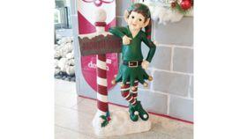Image of a Elf North Pole Statue