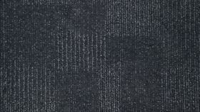 Image of a 2' x 2' Black with Grey Line Carpet Square