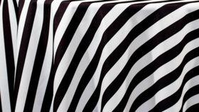 Image of a Black & White Stripe Satin Runners