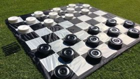 Image of a Lawn & Backyard Games - Checkers (Oversized)