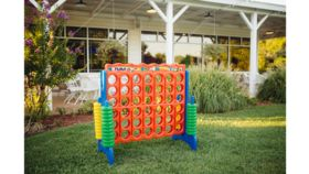 Image of a Lawn & Backyard Games - Connect Four (Oversized) Red and Blue