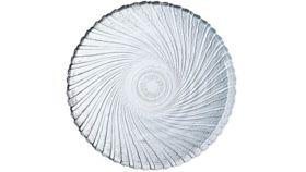Image of a Glass Swirl Salad Plate