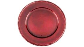 Image of a Red Lacquer Charger - Rope