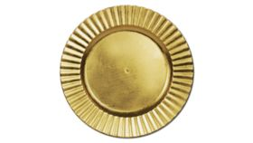 Image of a Gold Lacquer Charger - Plank