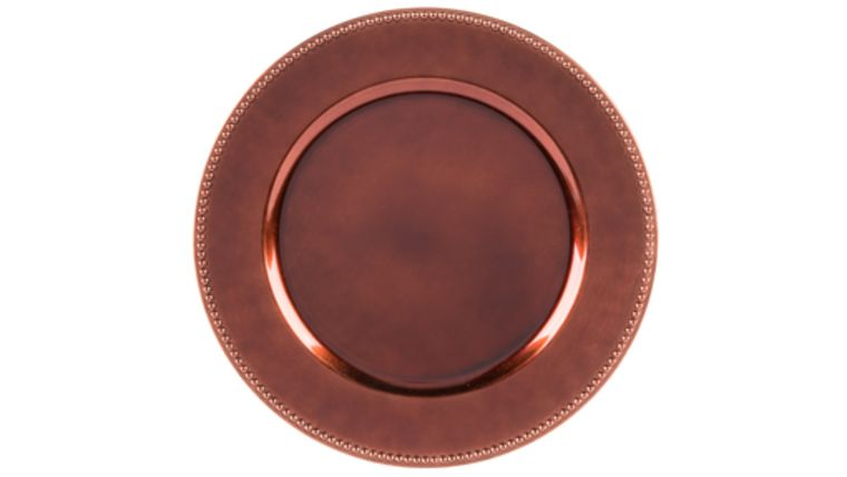 Picture of a Bronze Lacquer Charger - Beaded