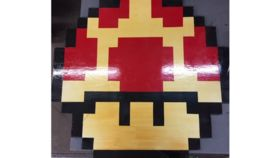 Image of a Bistro Tables - Top - 8-Bit Mario Mushroom