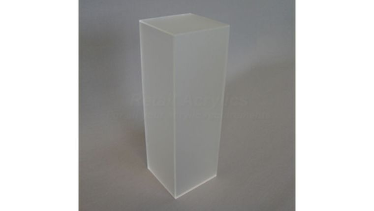 "Picture of a 36"" x 12"" x 12"" Frosted Acrylic Pedestal"