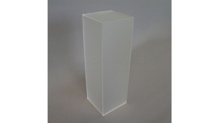 "Picture of a 36"" x 16"" x 16"" Frosted Acrylic Pedestal"