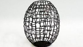 Image of a Bronze Wire Hurricane - Large
