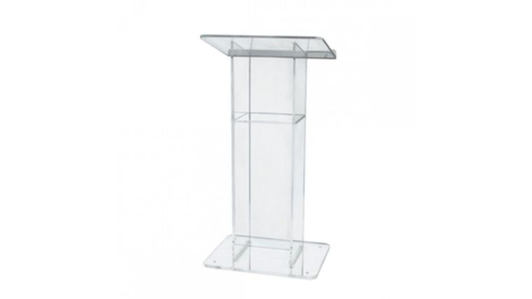 Picture of a Clear Acrylic with Shelf Lectern