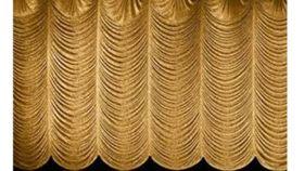 Image of a Gold Austrian Frazzle Drape - 20'