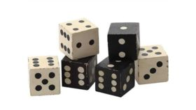 Image of a Black and White Dice