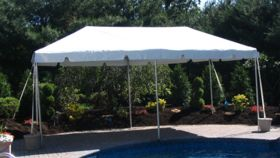Image of a 10' x 20' White Frame Tent