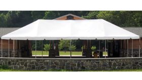 Image of a 10' x 30' White Frame Tent