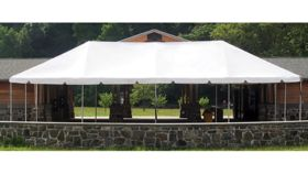 Image of a 10' x 40' White Frame Tent