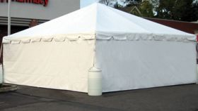 Image of a 8' x 20' Solid Sidewalls