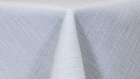 "Image of a 108"" x 252"" White Panama Tablecloths"