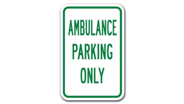 """Picture of a """"Ambulance Parking Only"""" Sign"""