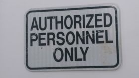 """Authorized Personnel Only"" Sign image"