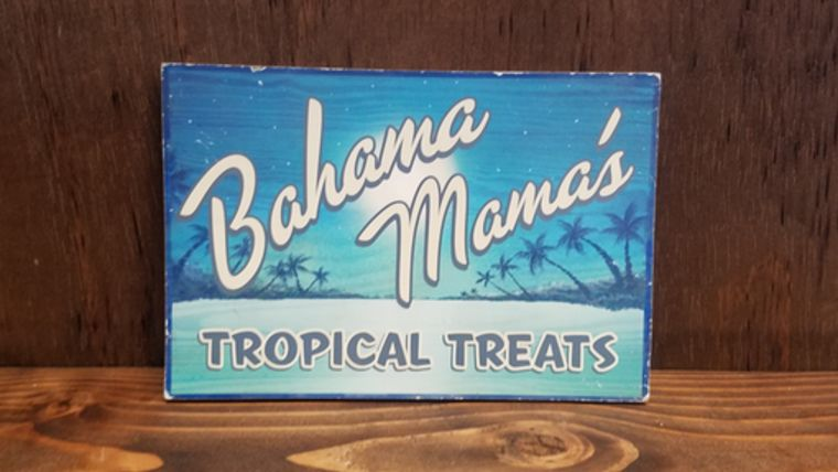 "Picture of a ""Bahama Mama's"" Sign"