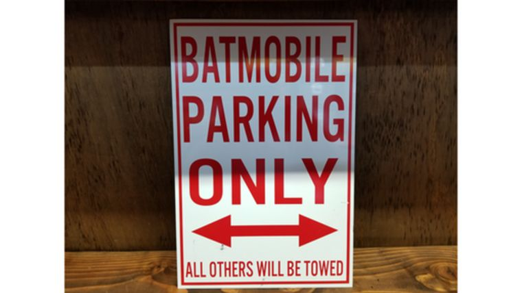 "Picture of a ""Batmobile Parking Only"" Sign"