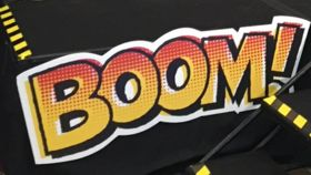 "Image of a ""Boom!"" Sign"