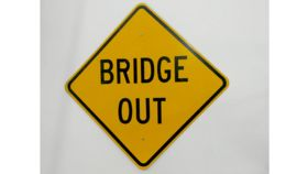 """Bridge Out"" Traffic Sign image"