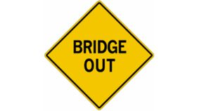 "Image of a ""Bridge Out"" Traffic Sign"