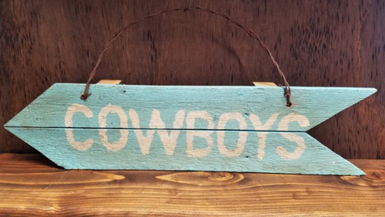 "Picture of a ""Cowboys"" Sign"