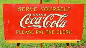 "Image of a ""Drink Coca-Cola"" Sign"